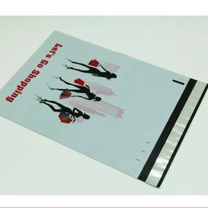 50 Poly Mailer 10x13 Shopping Girl Double Sided